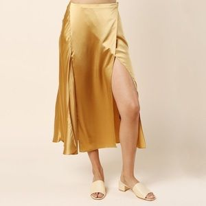 Catherine Quin Elrod Skirt in Gold Silk